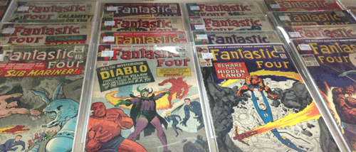 Awesome Comics, Dallas Premier Comic Shop, has a large collection of Silver Age comics...Batman, Superman, Fantastic Four, Avengers, Marvel, DC