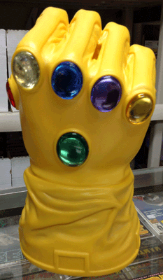 The Infinity Gauntlet for sale at Awesome Comics, Dallas' Premiere Comic Shop, has a large collection of Toys - Action Figures, Statues, Die Casts, Funko, Star Wars, Marvel, DC, Wolverine, Batman, Iron Man, Hulk, Spider-Man